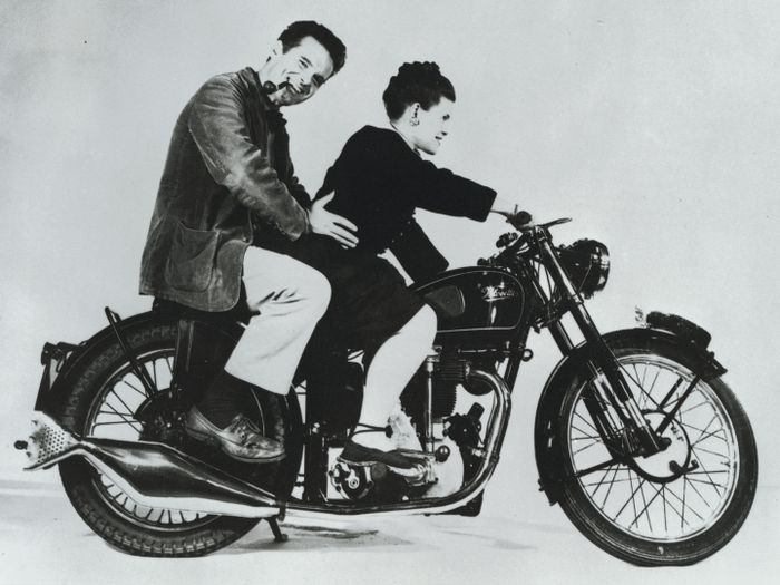 Charles & Ray Eames on a Motorcycle_web_designer_filter