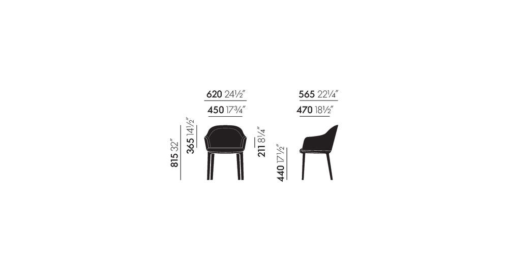 Softshell Chair four legged base