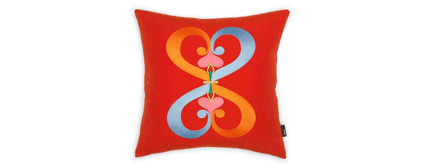 Embroidered Pillows, Double Heart, red_web_sub_hero