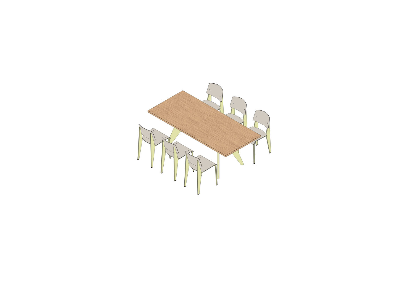 02 - EM Table 200 x 90, Standard SP -3D