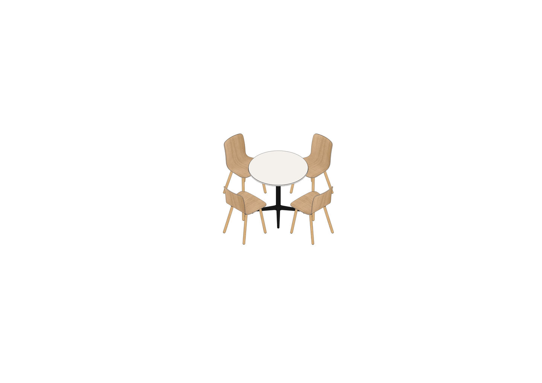 01 - Bistro Table Ø 79,6, HAL Ply Wood -3D