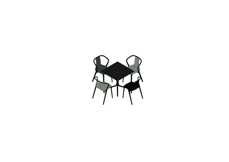 02 - Belleville Table, Belleville Armchair  -3D