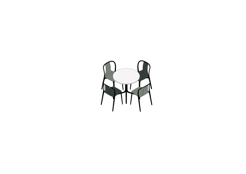 03 - Belleville Table, Belleville Chair  -3D