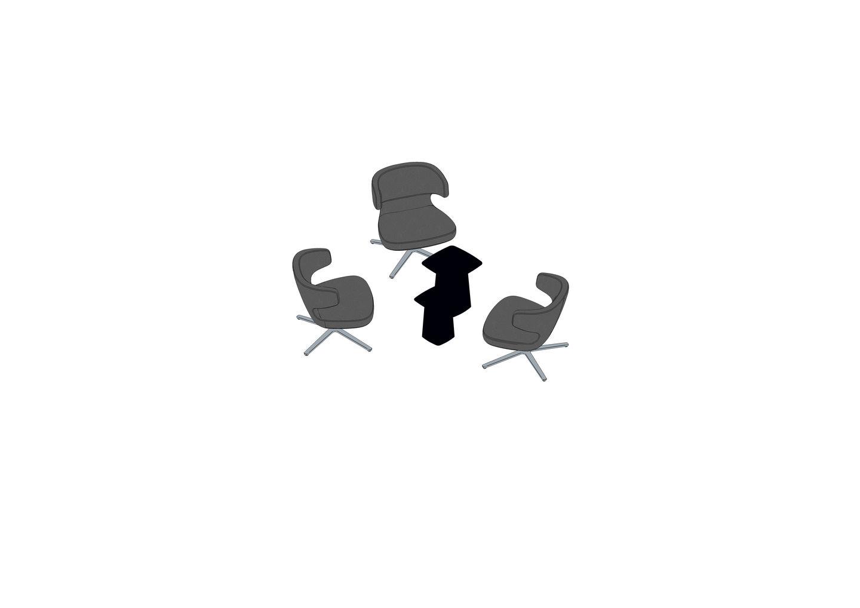 02 - Petit Repos, Metal Side Table -3D