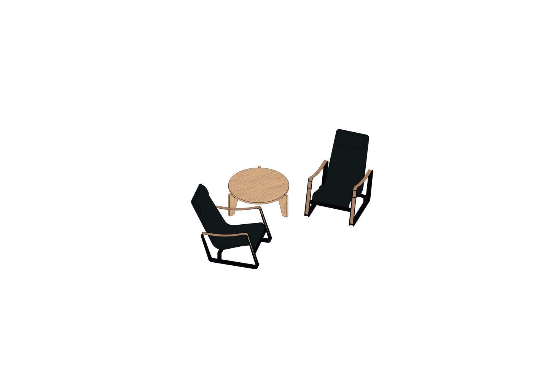 03 - Cité, Guéridon Table bas -3D