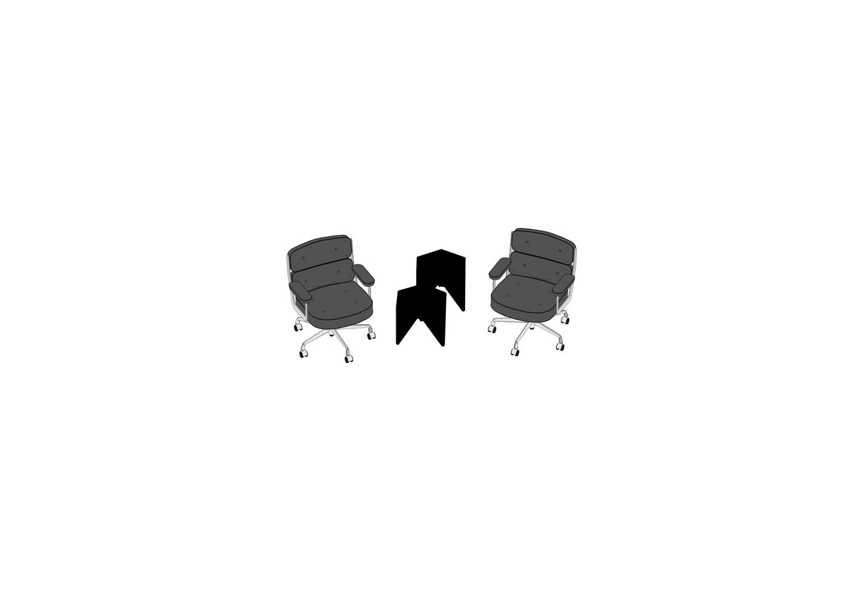 07 - Lobby Chair ES 105, Prismatic Table-3D