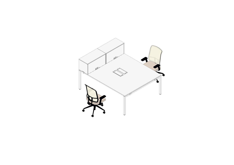 03 - WorKit 200 x 160 mit Box, AM Chair-3D