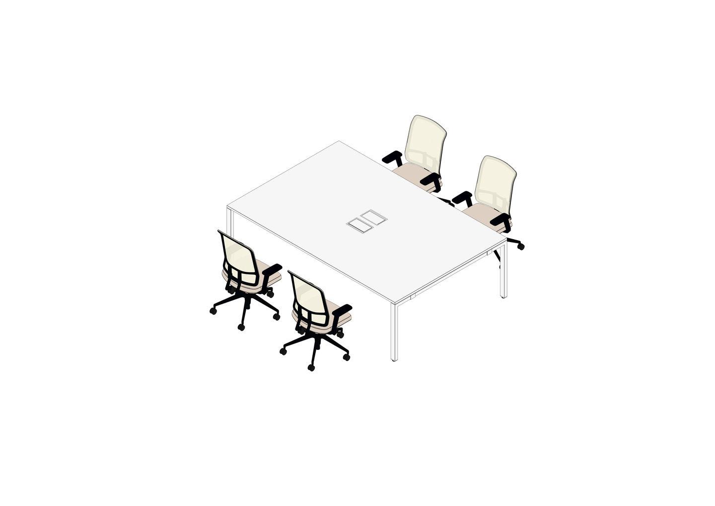 01 - WorKit 240 x 160, 4x AM Chair-3D