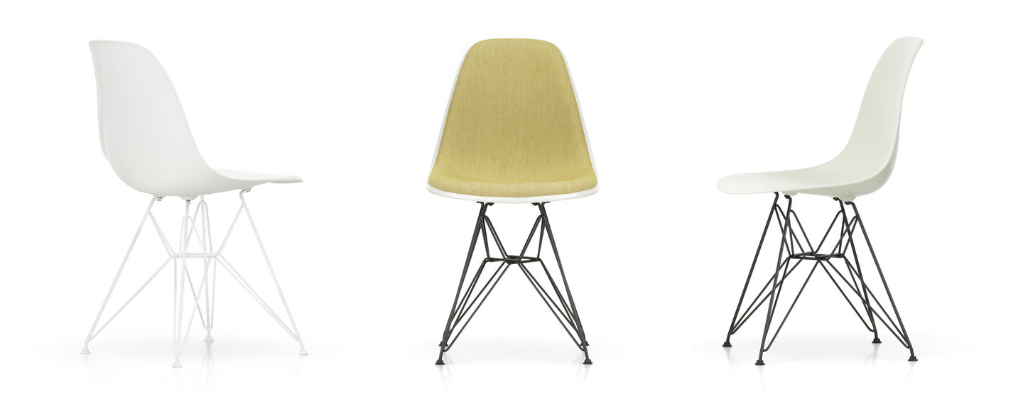 Eames Plastic Side Chair DSR - 04 white - 04 white powder-coated - right_web_sub_hero