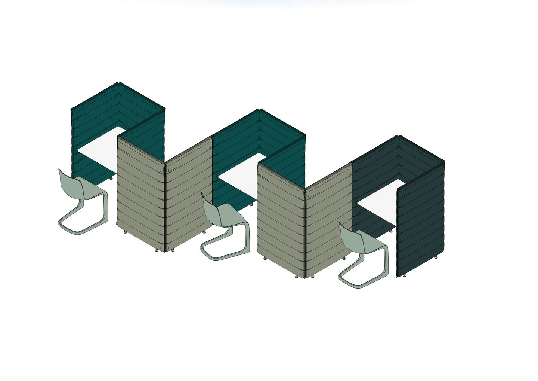 Alcove Plus Desk S, Alcove Plus Paravent, EVO-C